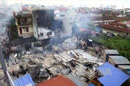 Cháy lớn khu nhà tạm ngõ 398 Trương Định, Hà Nội
