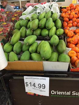 Xoài xanh Việt Nam ngày càng được ưa chuộng tại thị trường Australia
