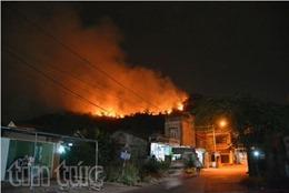 Dập tắt vụ cháy rừng thông tại Quảng Ninh