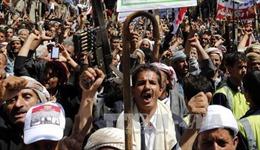 Hàng nghìn người Yemen biểu tình phản đối vụ không kích ở Sanaa