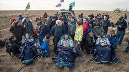 Ba phi hành gia về Trái Đất an toàn sau 4 tháng trên ISS