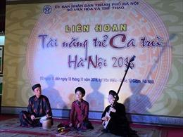 Liên hoan tài năng trẻ ca trù Hà Nội năm 2016