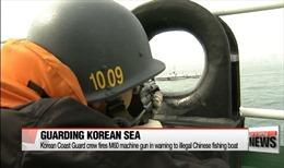 Hàn Quốc lại dùng súng máy truy đuổi tàu cá Trung Quốc