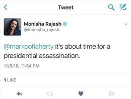 Chấn động chuyện nữ nhà báo kêu gọi ám sát ông Trump