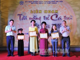 Bế mạc Liên hoan tài năng trẻ ca trù