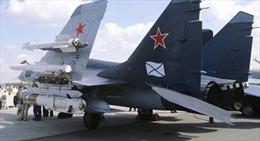Tiêm kích Nga rơi khi hạ cánh xuống tàu sân bay ngoài khơi Syria