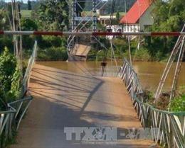 Sập cầu treo, ít nhất 4 người rơi xuống sông Đồng Nai