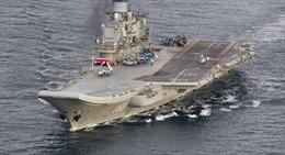 """Tàu sân bay """"Đô đốc Kuznetsov"""" bất ngờ không tham gia chiến dịch Aleppo"""