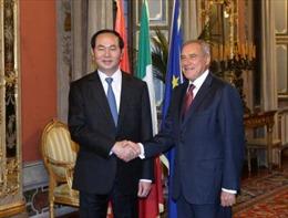 Chủ tịch nước hội kiến các nhà lãnh đạo Quốc hội Italy