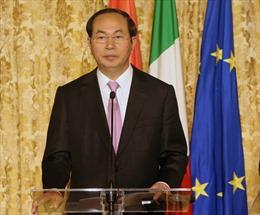 Chủ tịch nước Trần Đại Quang dự Diễn đàn Doanh nghiệp Việt Nam-Italy