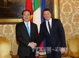 Chủ tịch nước Trần Đại Quang hội kiến Thủ tướng Italy