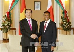 Chủ tịch nước Trần Đại Quang hội đàm với Tổng thống Madagascar