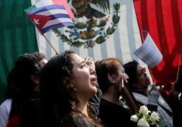 Người dân Mỹ Latinh bật khóc tiếc thương Lãnh tụ Cuba Fidel Castro