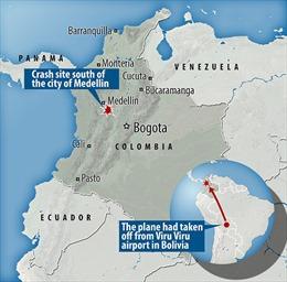 Máy bay rơi ở Colombia vì một chiếc máy chơi game?
