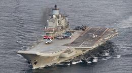 NATO tung 8 tàu chiến theo dõi tàu sân bay Đô đốc Kuznetsov của Nga