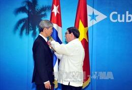 Cuba trao tặng Huy chương Hữu nghị cho Đại sứ Việt Nam