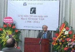 Kỷ niệm 110 năm ngày sinh danh họa Tô Ngọc Vân