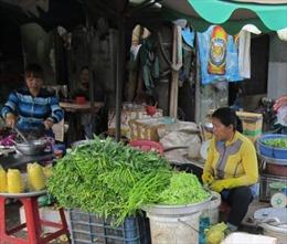 Giá rau xanh tăng mạnh, thịt đứng yên