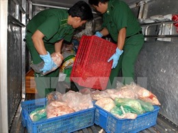Thu mua hàng trăm cân bì lợn ôi thiu, chế biến thành bì bóng và mỡ