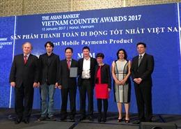 MoMo đạt giải thưởng sản phẩm thanh toán di động tốt nhất Việt Nam 2017