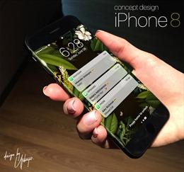 Chiêm ngưỡng thiết kế iPhone 8 thời thượng với màn hình tràn cạnh