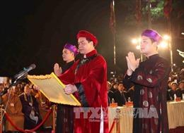 Đón nhận Bằng ghi danh Di sản văn hóa phi vật thể quốc gia Lễ hội đền Trần Thương