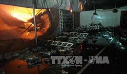 Cháy cửa hàng giày dép trong Chợ Đêm Đồng Xoài, 2 mẹ con tử vong