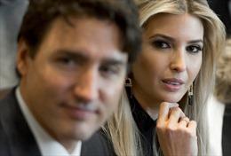 Con gái Tổng thống Trump 'đắm đuối' nhìn Thủ tướng Canada điển trai