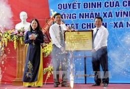 Xã đầu tiên đạt chuẩn nông thôn mới ở vùng tứ giác Long Xuyên