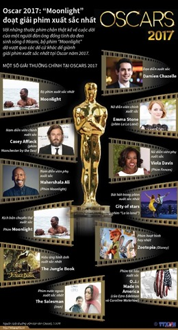 Tổng kết các giải thưởng Oscar 2017