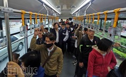 Sau 2 tháng, xe buýt nhanh đã thu hút hơn 750.000 lượt hành khách