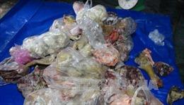 Thu giữ hơn 2 tấn thịt động vật bẩn đang trên đường đi tiêu thụ