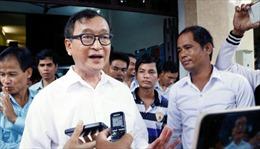 Tòa phúc thẩm Campuchia phán quyết y án đối với cựu Chủ tịch đảng đối lập Sam Rainsy