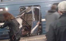 Hai tiếng nổ xé toang toa tàu điện ngầm ở Nga, ít nhất 10 người chết
