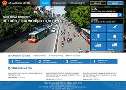 Bộ Giao thông vận tải dẫn đầu xếp hạng Bộ, ngành về dịch vụ công trực tuyến