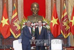 Chủ tịch nước Trần Đại Quang tiếp Thủ tướng Sri Lanka