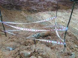 Phát hiện quả bom nặng hơn 240 kg tại Hướng Hóa, Quảng Trị