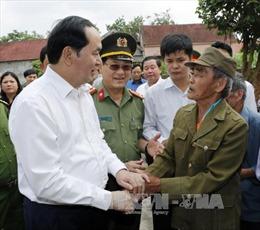 Chủ tịch nước thăm xã miền núi hoàn thành 19/19 tiêu chí nông thôn mới ở Nghệ An