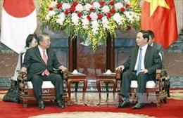 Chủ tịch nước Trần Đại Quang tiếp Chủ tịch Hạ viện Nhật Bản