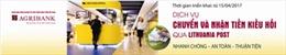Agribank đa dạng các kênh thanh toán kiều hối