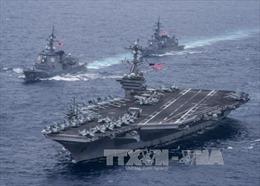 Gây sức ép với Triều Tiên, Nhật Bản tập trận với 2 tàu sân bay Mỹ