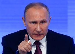 Tổng thống Nga Vladimir Putin tố Mỹ hỗ trợ khủng bố ở Chechnya