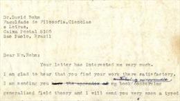 Đấu giá thư của thiên tài vật lý Albert Einstein