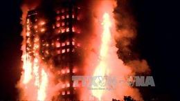 Ít nhất 30 người phải nhập viện vụ cháy chung cư Anh