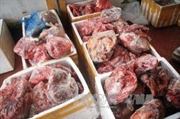 Bắt giữ hàng tấn thực phẩm bẩn, không có nguồn gốc