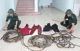 Bắt giữ tàu đánh cá tàng trữ phương tiện khai thác thuỷ sản trái phép