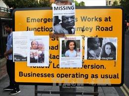 Vụ cháy chung cư tại Anh: 65 người mất tích
