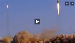 Cận cảnh Iran dội tên lửa trả đũa khủng bố tại Syria