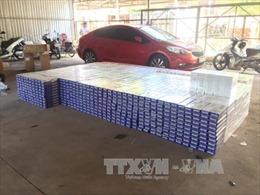 Bắt xe ô tô chở 28.500 bao thuốc lá ngoại nhập lậu