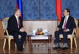 Chủ tịch nước Trần Đại Quang tiếp Chủ tịch Đảng Cộng sản Liên bang Nga